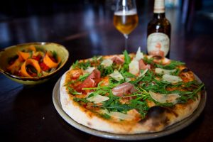 new menu pizza salad and beer