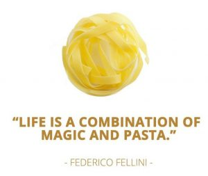 pasta quote from federico fellini