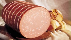 mortadella with bread on the side